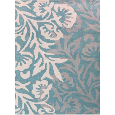 Crewe Hand-Tufted Blue Area Rug Rug Size: Rectangle 2 x 3