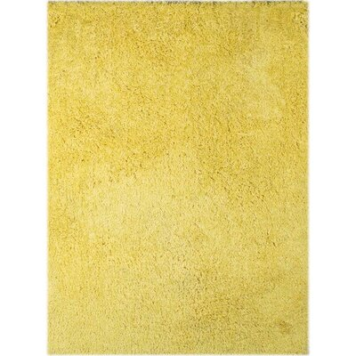 Illustrations Yellow Area Rug Rug Size: 8 x 11