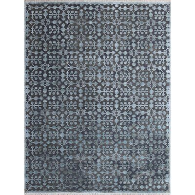 Joy Hand-Tufted Wool/Silk Water Blue Area Rug Rug Size: 6 x 9