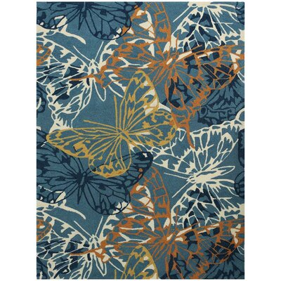 Piazza Blue Indoor/Outdoor Area Rug Rug Size: 76 x 96