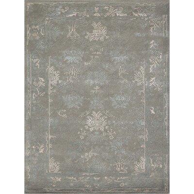 Hadassah Hand-Tufted Platinum Area Rug Rug Size: Rectangle 76 x 96