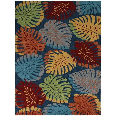 Piazza Navy Indoor/Outdoor Area Rug Rug Size: 76 x 96