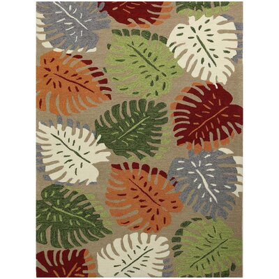 Piazza Beige Indoor/Outdoor Area Rug Rug Size: 76 x 96