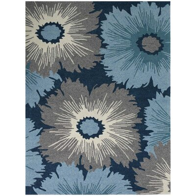Arrellano Navy Indoor/Outdoor Area Rug Rug Size: Rectangle 76 x 96