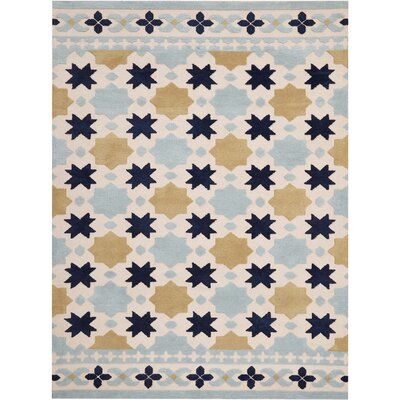 Melrose Hand-Tufted Ivory Area Rug Rug Size: Rectangle 5 x 76