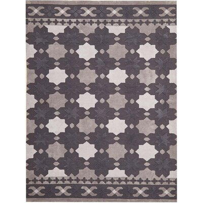 Helena Hand-Tufted Dark Gray Area Rug Rug Size: 8 x 11