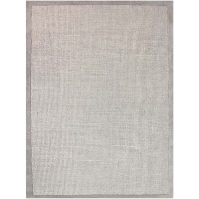 Idina Hand-Tufted Dove Gray Area Rug Rug Size: 5 x 8