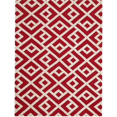 Helena Hand-Tufted Red Area Rug Rug Size: 76 x 96