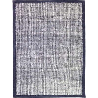 Caravelle Hand-Tufted Navy Area Rug Rug Size: Rectangle 86 x 116