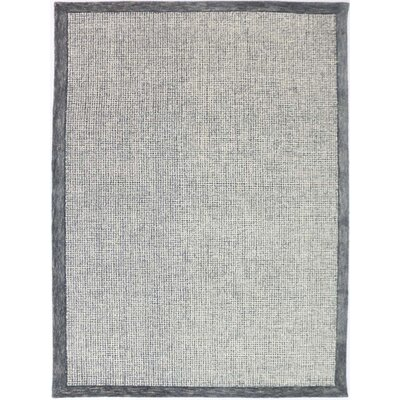 Caravelle Hand-Tufted Slate Area Rug Rug Size: Rectangle 76 x 96