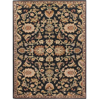 Daleville Hand-Tufted Ebony Area Rug Rug Size: Rectangle 2 x 3