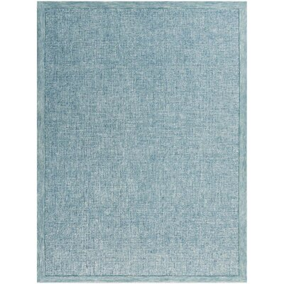 Caravelle Hand-Tufted Teal Area Rug Rug Size: Rectangle 86 x 116