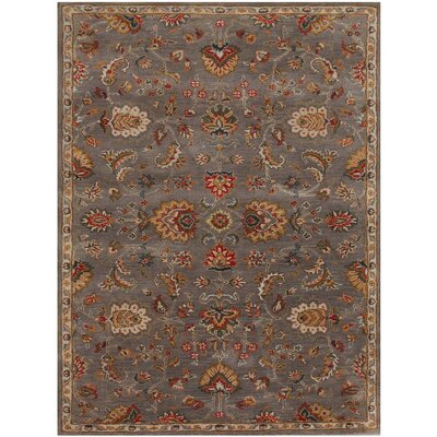 Liberty Hand-Tufted Dark Gray Area Rug Rug Size: 76 x 96