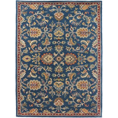 Liberty Hand-Tufted Navy Area Rug Rug Size: 5 x 8