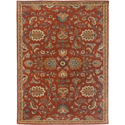 Liberty Hand-Tufted Rust Area Rug Rug Size: 5 x 8