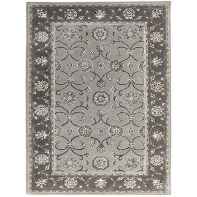 Pawling Contemporary Hand-Tufted Gray Area Rug Rug Size: Rectangle 76 x 96