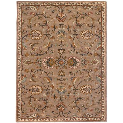 Liberty Hand-Tufted Brown Area Rug Rug Size: 5 x 8