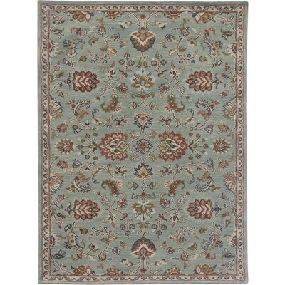 Daleville Hand-Tufted Blue Area Rug Rug Size: Rectangle 76 x 96
