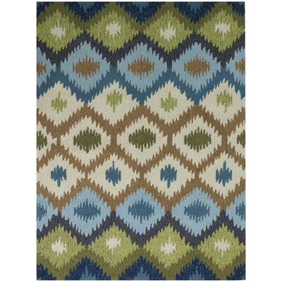 Piazza Blue Indoor/Outdoor Area Rug Rug Size: 4 x 6