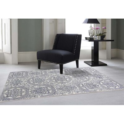 Serendipity Hand-Tufted Navy Blue Area Rug Rug Size: 5 x 8