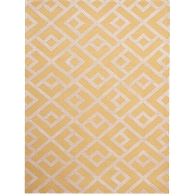 Helena Hand-Tufted Yellow Area Rug Rug Size: 3' x 5'