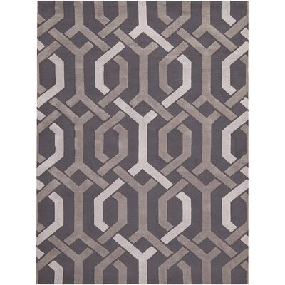 Stoke-on-Trent Hand-Tufted Dark Gray Area Rug Rug Size: Rectangle 76 x 96