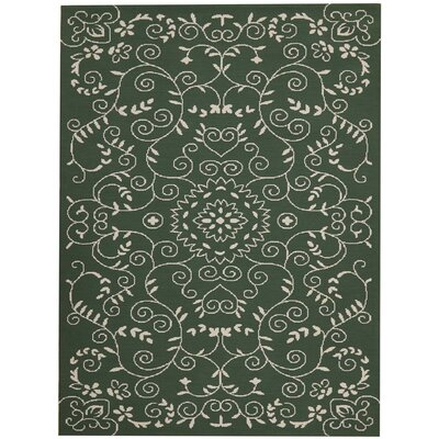 Eberhardt Hand-Tufted Green Area Rug Rug Size: Rectangle 76 x 96