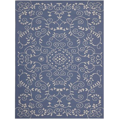Eberhardt Hand-Tufted Blue Area Rug Rug Size: Rectangle 76 x 96