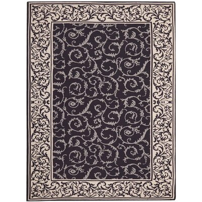 Eberhardt Hand-Tufted Dark Chocolate Area Rug Rug Size: Rectangle 5 x 76