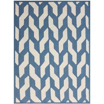 Welborn Blue Area Rug Rug Size: 8 x 10