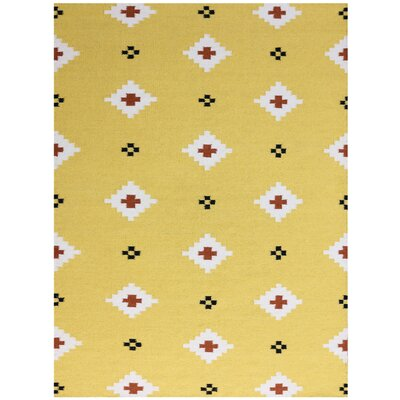 Pietsch Yellow Area Rug Rug Size: 2 x 3