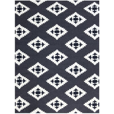Pietsch Black/White Area Rug Rug Size: 8 x 10
