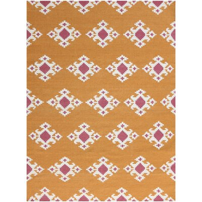 Pietsch Orange Area Rug Rug Size: 3 x 5