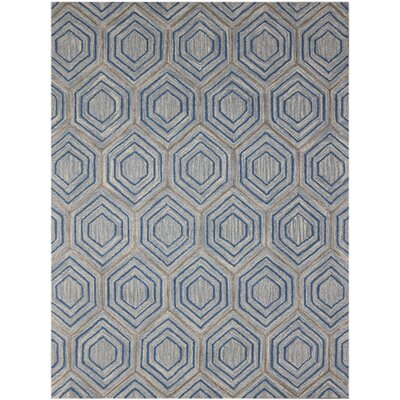 Dwell Hand-Tufted Blue Area Rug Rug Size: 76 x 96