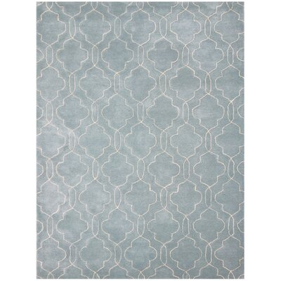 Kamena Hand-Tufted Blue/Gray Area Rug Rug Size: 2 x 3