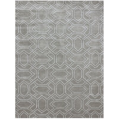 Kamena Hand-Tufted Cement Gray Area Rug Rug Size: 5 x 8