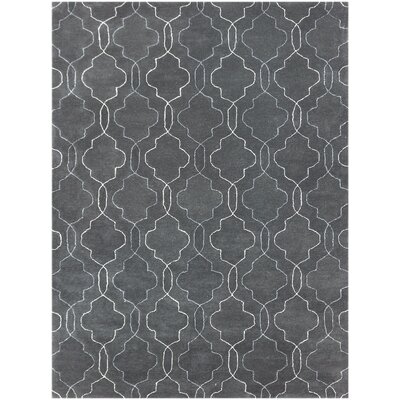 City Hand-Tufted Gray Area Rug Rug Size: 76 x 96