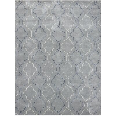 City Hand-Tufted Gray/Blue Area Rug Rug Size: 76 x 96