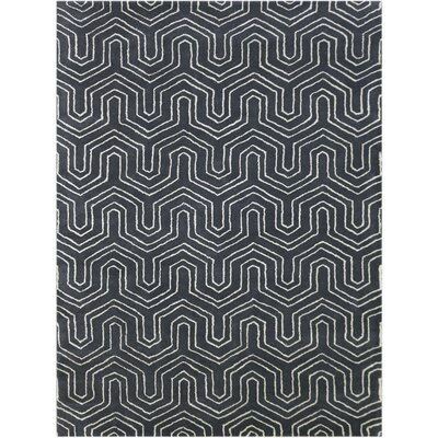 Kamena Hand-Tufted Wool Gray Area Rug Rug Size: 86 x 116