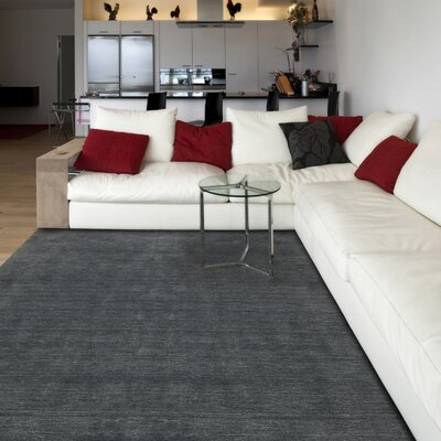 Arizona Hand-Woven Gray Area Rug Rug Size: 5 x 8