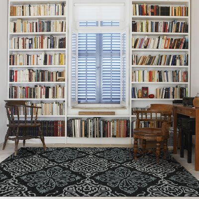 Decatur Dark Gray Indoor/Outdoor Area Rug Rug Size: 7'6