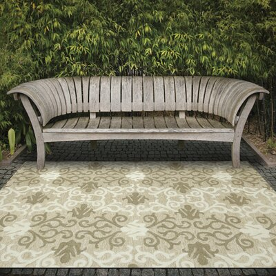Piazza Beige Outdoor Area Rug Rug Size: 4 x 6