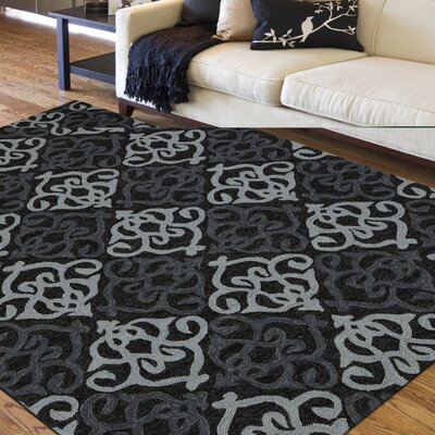 Hembree Black Indoor/Outdoor Area Rug Rug Size: 8 x 11