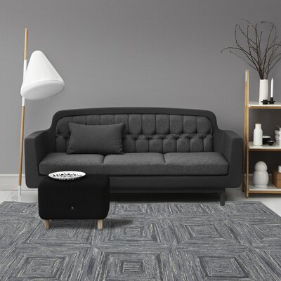Dwell Hand-Tufted Blue Area Rug Rug Size: 8 x 11