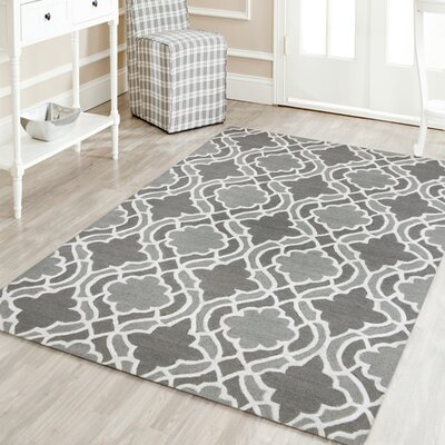 Collins Hand-Tufted Wool Gray Area Rug Rug Size: Rectangle 5 x 8