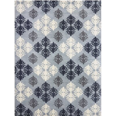 Ascent Hand-Tufted Blue Area Rug Rug Size: 8 x 11