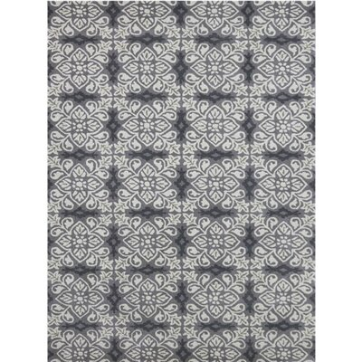Ascent Hand-Tufted Silver Area Rug Rug Size: 5 x 8