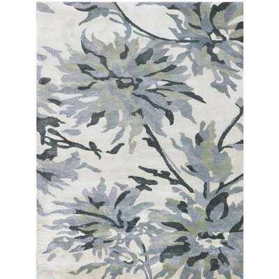 Shimmer Hand-Tufted Beige/Gray Area Rug Rug Size: 5 x 76