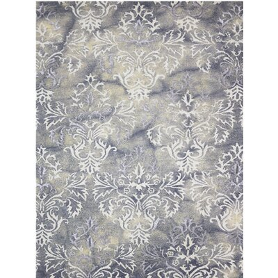 Averi Hand-Tufted Beige/Gray Area Rug Rug Size: 9 x 13