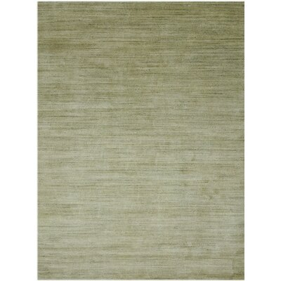 Adamsburg Hand-Woven Green Area Rug Rug Size: Rectangle 5 x 8